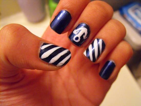 50 rocking anchor nail art designs nail design ideaz anchor nail art designs prinsesfo Gallery