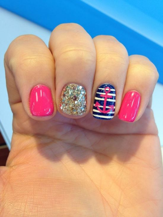 Cute Nail Designs With Anchors Anchor Nail Designs