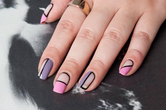 18 Negative Space Nail Art Tutorials Nail Design Ideaz