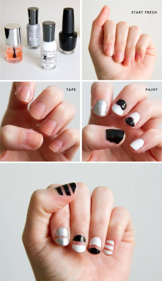 18 Negative Space Nail Art Tutorials | Nail Design Ideaz