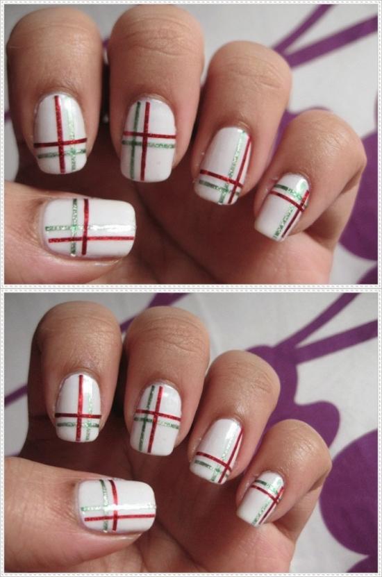 40 killer striping tape nail art designs nail design ideaz striping tape nail designs prinsesfo Image collections