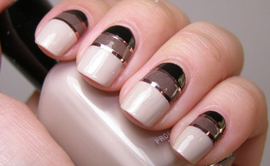 Striping Tape Nails - 40 Killer Striping Tape Nail Art Designs Nail Design Ideaz