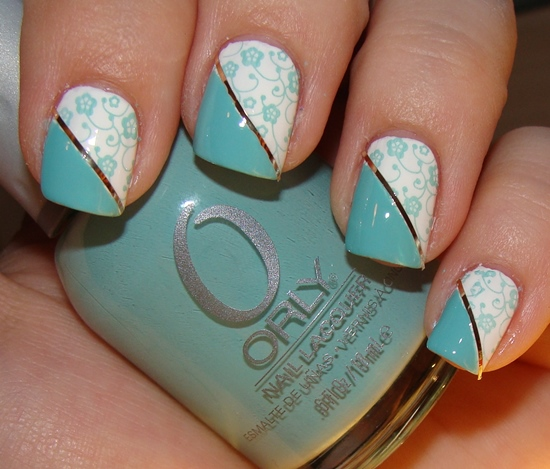 With Striping Tape Nail Art Ideas