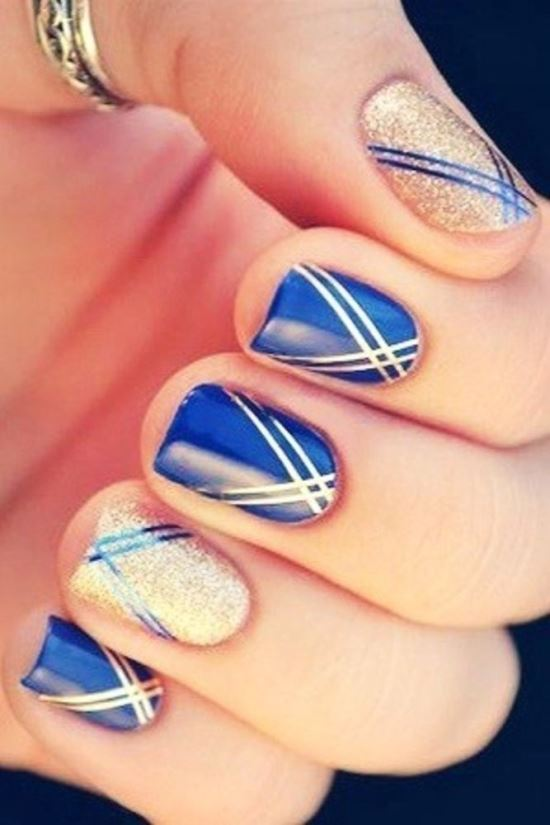 Nail Striping Tape - 40 Killer Striping Tape Nail Art Designs Nail Design Ideaz