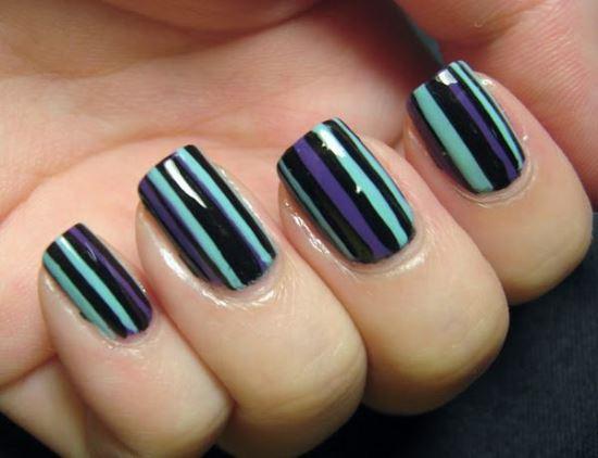 40 killer striping tape nail art designs nail design ideaz nail striping tape prinsesfo Images