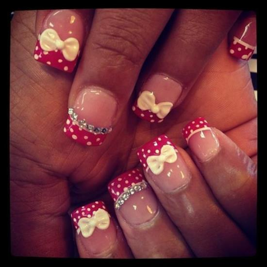 Bow Nail Art Designs