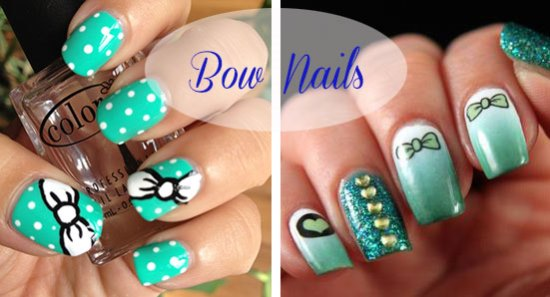 50 stylish bow nail art designs nail design ideaz bow nail art prinsesfo Images