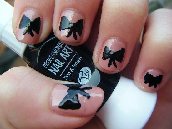 50 stylish bow nail art designs nail design ideaz bow nail designs prinsesfo Image collections