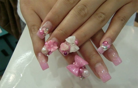 50 stylish bow nail art designs nail design ideaz bow nail designs prinsesfo Image collections