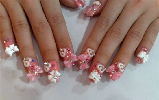 Bow Nail Designs - 50 Stylish Bow Nail Art Designs Nail Design Ideaz