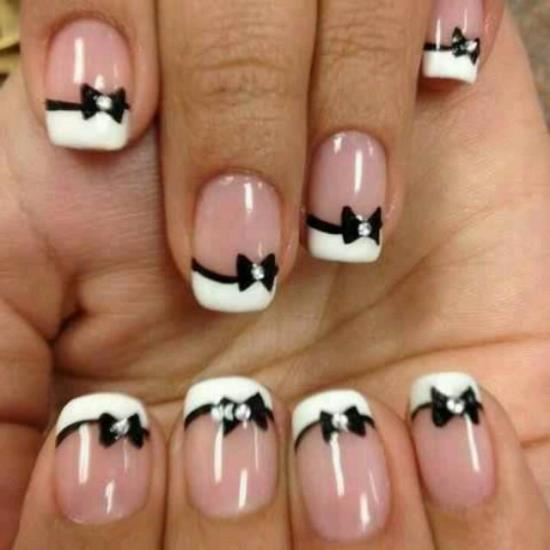 Bow Nail Art Designs - 50 Stylish Bow Nail Art Designs Nail Design Ideaz