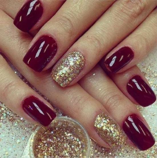 50 Burgundy Nail Designs For 2015