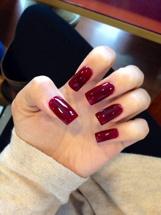 Дизайн на длинных квадратных ногтях