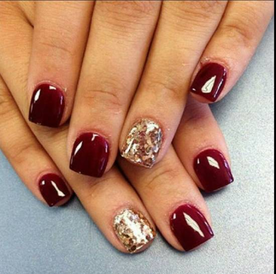50 Burgundy Nail Designs For 2015 Nail Design Ideaz