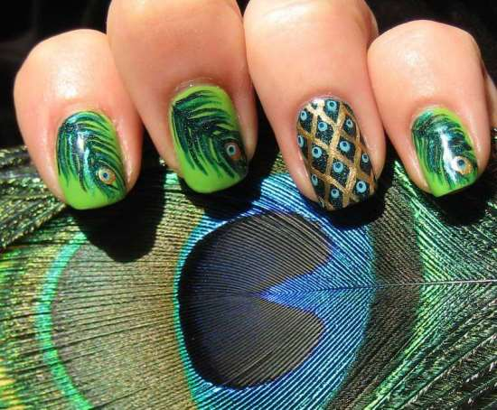 40 Creative Feather Nail Art Ideas Nail Design Ideaz