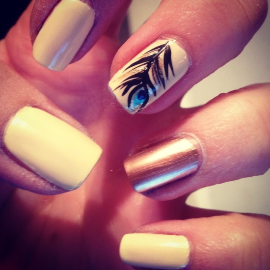 40 Creative Feather Nail Art Ideas | Nail Design Ideaz