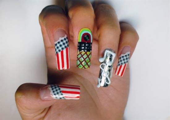21 cute music notes nail art tutorial nail design ideaz music notes prinsesfo Image collections