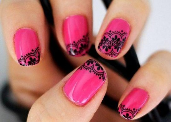 Lace Nail Designs - 45 Elegant Lace Nail Art Designs For You Nail Design Ideaz