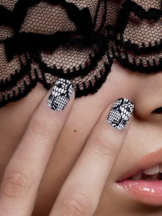 Дизайн ногтей в стиле чикаго
