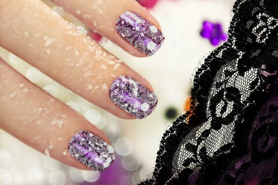 Black Lace Nails