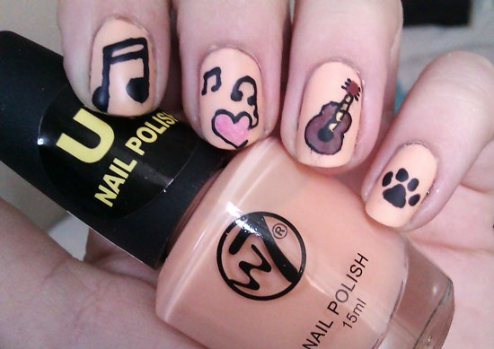 Music Nails - 40 Creative Music Nail Art Ideas Nail Design Ideaz