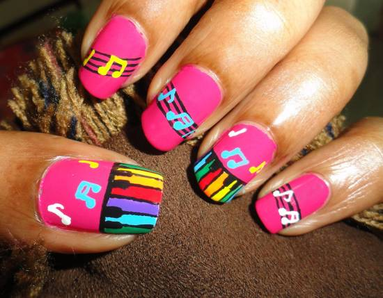 Music Note Nails