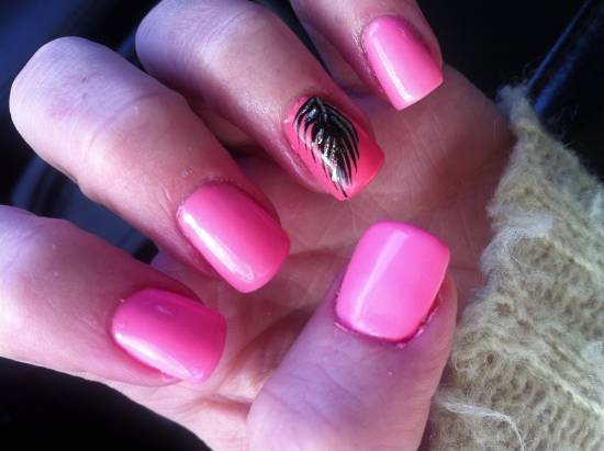 Feather Nail Art Tutorials - 20 Stylish Feather Nail Art Tutorials Nail Design Ideaz