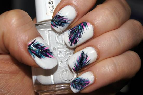 Nail Art Tutorials - 20 Stylish Feather Nail Art Tutorials Nail Design Ideaz