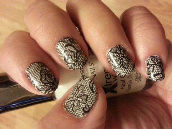 20 Gorgeous Lace Nail Art Tutorials Nail Design Ideaz