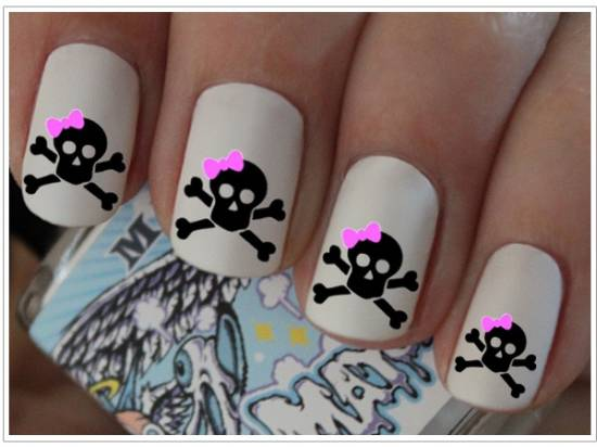 Sugar Skull Nails - 21 Killer Skull Nail Art Design Tutorials Nail Design Ideaz