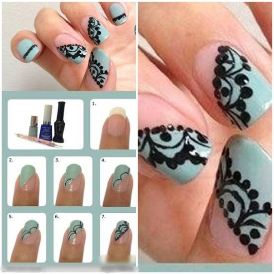 Lace Nail Art - 20 Gorgeous Lace Nail Art Tutorials Nail Design Ideaz