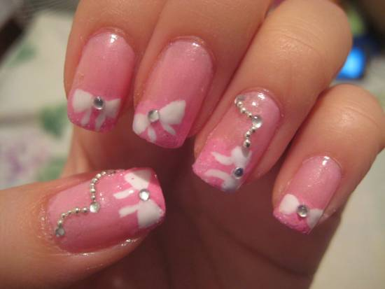 18 elegant bow nail art tutorials nail design ideaz bow nail art prinsesfo Images