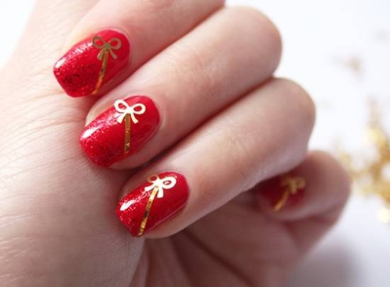 18 Elegant Bow Nail Art Tutorials