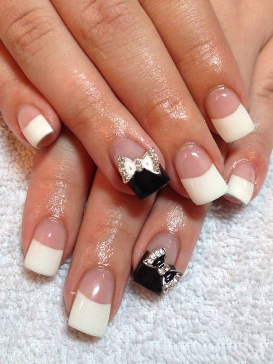 18 elegant bow nail art tutorials nail design ideaz bow nail tutorials prinsesfo Images