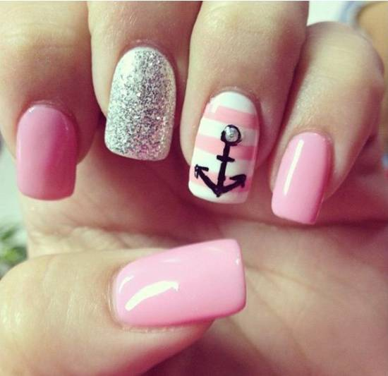 18 Creative Anchor Nail Art Tutorials Nail Design Ideaz