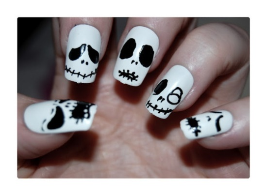 Skull Nail Art - 50 Rocking Skull Nail Art Designs Nail Design Ideaz