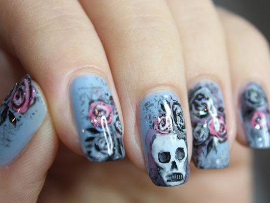 50 Rocking Skull Nail Art Designs Nail Design Ideaz
