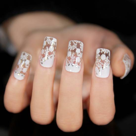 Nail Art Tutorials - 20 Gorgeous Lace Nail Art Tutorials Nail Design Ideaz
