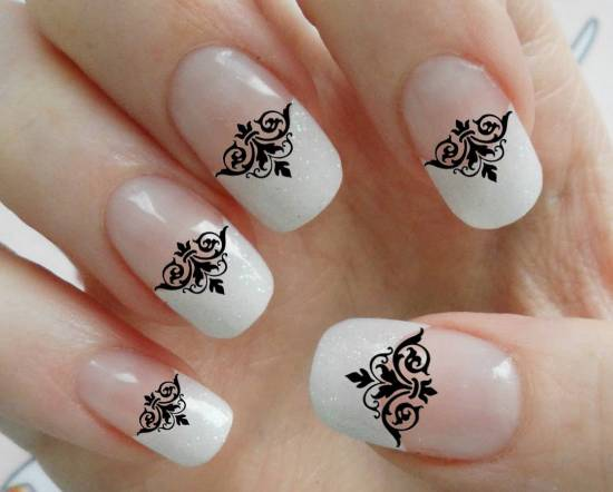 Lace Nail Designs - 20 Gorgeous Lace Nail Art Tutorials Nail Design Ideaz