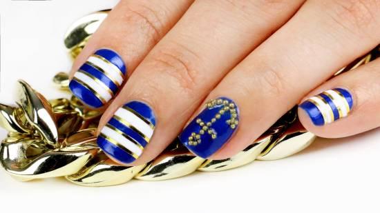 18 creative anchor nail art tutorials nail design ideaz nail art tutorials prinsesfo Choice Image