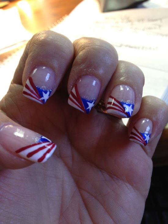 4th of July Nail Art