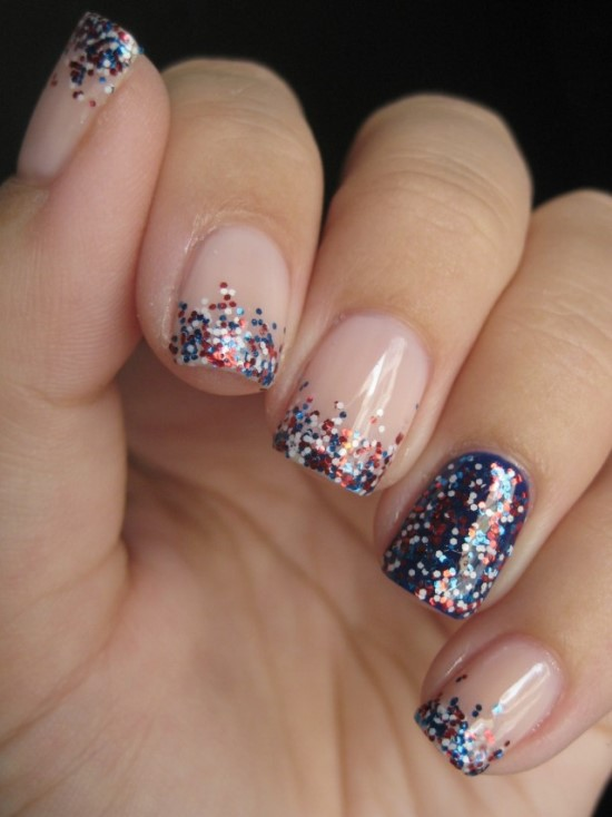 51 gorgeous 4th of july nails designs nail design ideaz 4th of july nail designs prinsesfo Choice Image