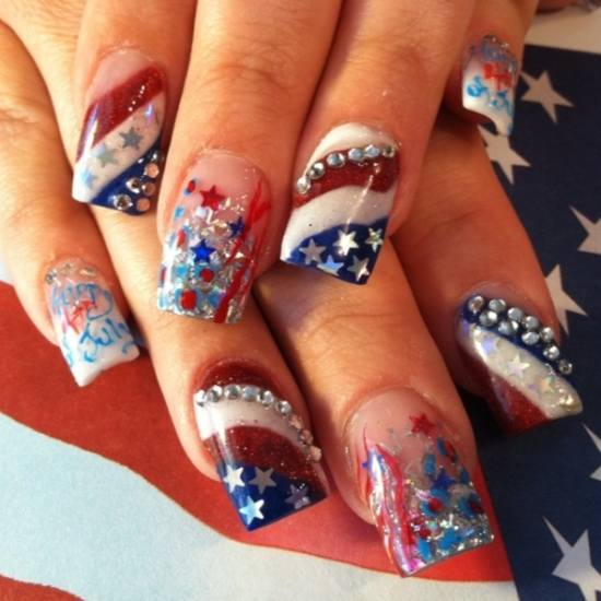 51 Gorgeous 4th Of July Nails Designs Nail Design Ideaz
