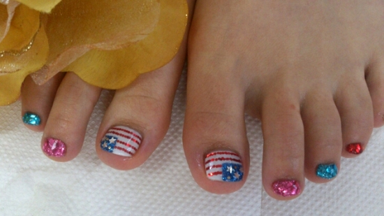 51 gorgeous 4th of july nails designs nail design ideaz 4th of july nail art ideas prinsesfo Image collections