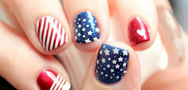 20 Patriotic 4th Of July Nail Art Tutorials Nail Design Ideaz