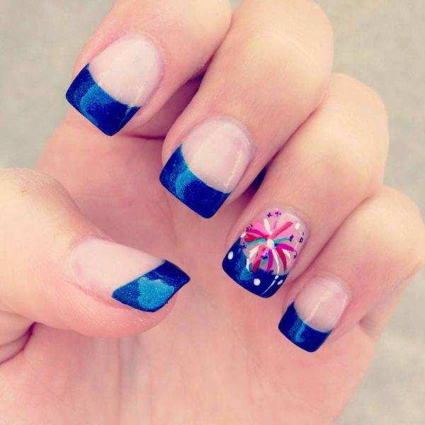 20 patriotic 4th of july nail art tutorials nail design ideaz 4th of july nails prinsesfo Image collections