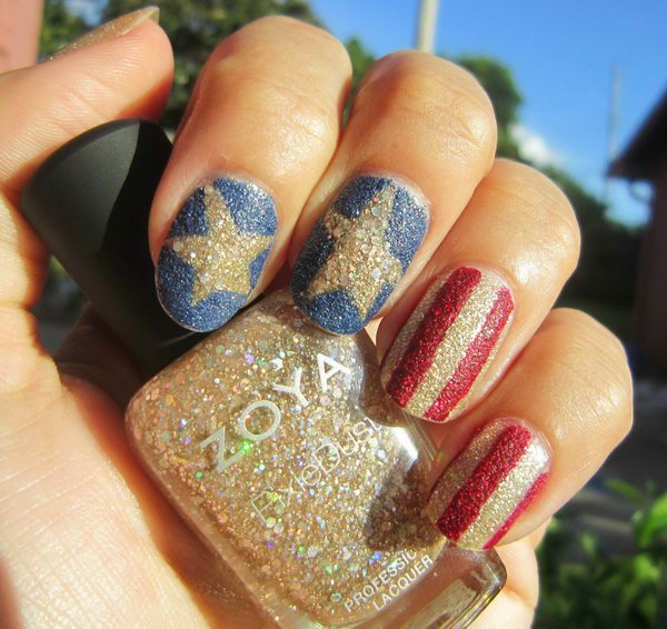20 Patriotic 4th Of July Nail Art Tutorials | Nail Design Ideaz