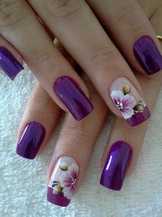 Дизайн ногтей фиолетовый фото