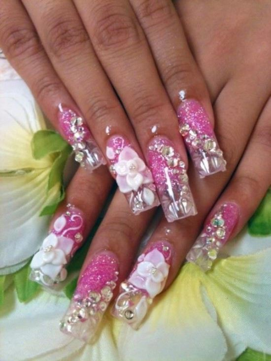 3D Nail Designs - 50 Creative 3D Nail Art Designs For Summer Nail Design Ideaz