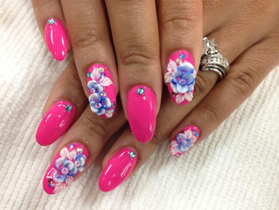 50 Creative 3d Nail Art Designs For Summer Nail Design Ideaz